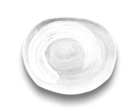 Photo pour Blank white dish isolated on white background. - image libre de droit
