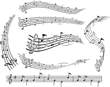 Music notes on slave