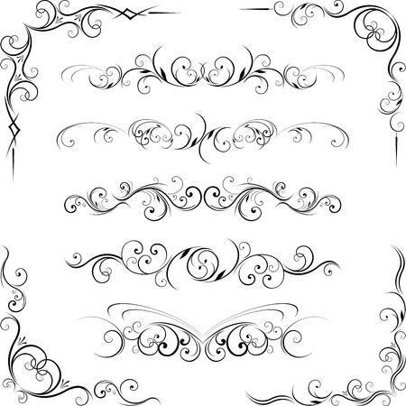 Illustration for ornate design elements - Royalty Free Image