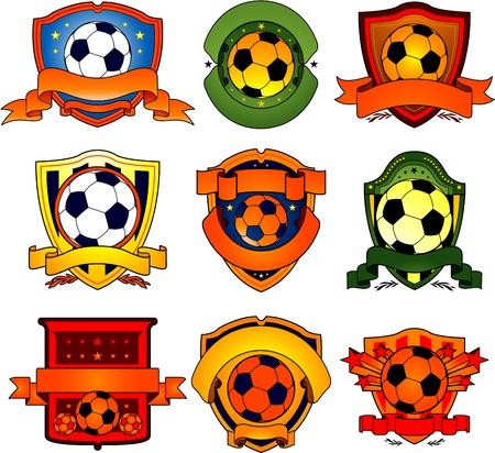 Ilustración de soccer emblem - Imagen libre de derechos