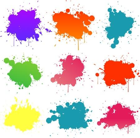 Illustration pour colorful paint splat - image libre de droit