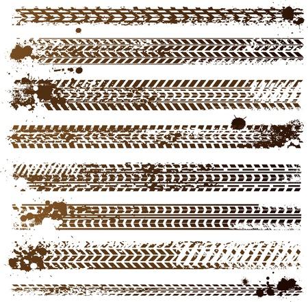 Illustration pour dirty tire tracks - image libre de droit
