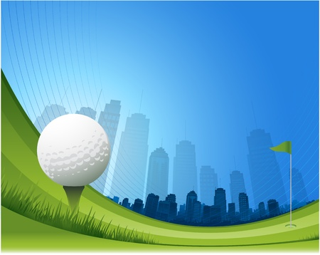 Golf Tee Illustration