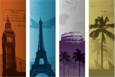 Illustration pour Travel europe vacation concept - image libre de droit