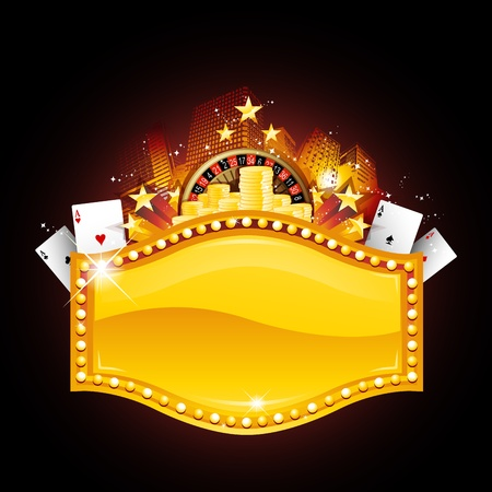 Casino placard