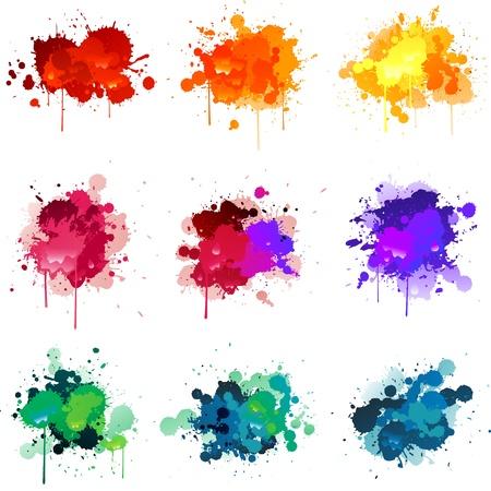 Paint splats