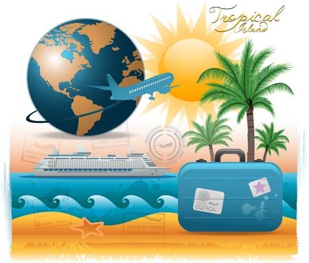 Illustration pour Travel background - image libre de droit