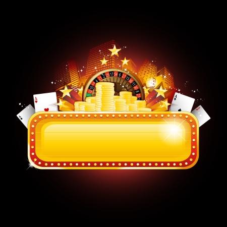 Casino banner sign