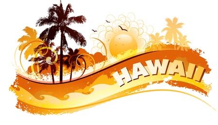 Illustration pour Tropical abstract background - image libre de droit