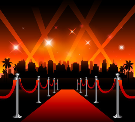 Illustration for Now showing vector theater movie banner sign - Royalty Free Image