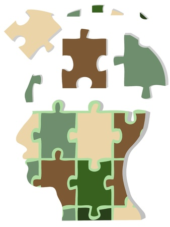 Camouflage jigsaw head