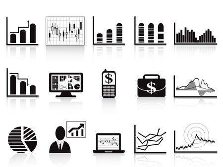 Illustration pour some business charts icon set for business reports - image libre de droit