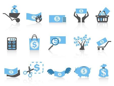 isolated simple money icon,blue series from white background