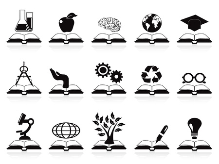isolated books concept icons set from white background