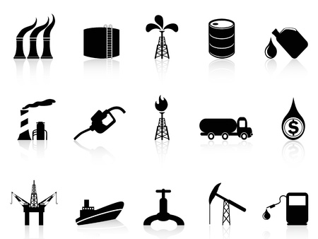 isolated oil industry icon from white background