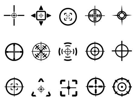 isolated crosshair icon from white background
