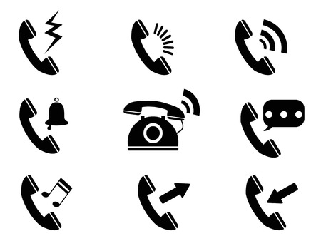 isolated phone ring icons from white background
