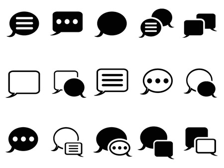 isolated Speech bubble icons on white background