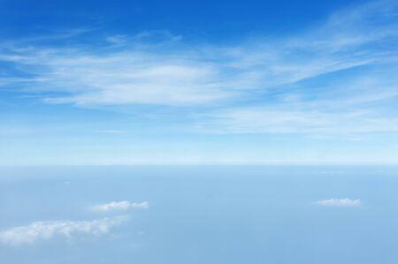 Photo pour texture of cloud on clear blue sky above PM 2.5  - image libre de droit