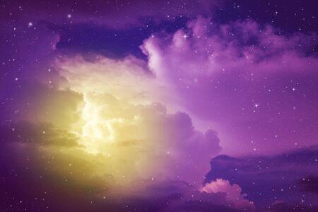 Foto für fantasy colorful night sky with cloud and stars - Lizenzfreies Bild
