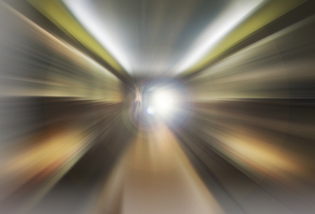 Abstract tunnel  background with light