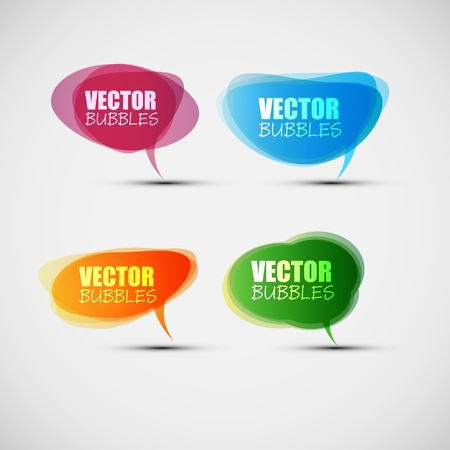 EPS10 Set of Colorful Bubbles for Speech Vector Design
