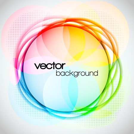 EPS10 Abstract Colorful Circle Background Vector