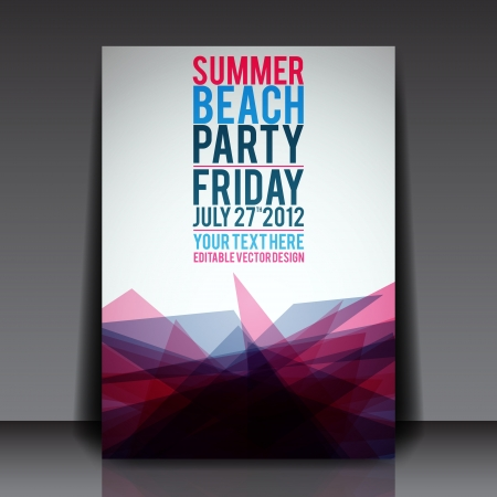 Abstract Summer Party Flyer Template