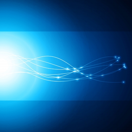 Abstract network blue background