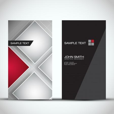 Vertical Modern Business Card Set