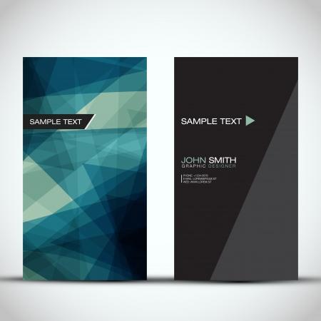 Blue Modern Vertical Business Card Set