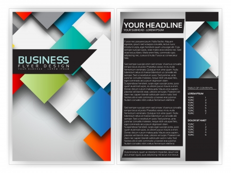 Colorful 3D Squares - Business Brochure Template Design