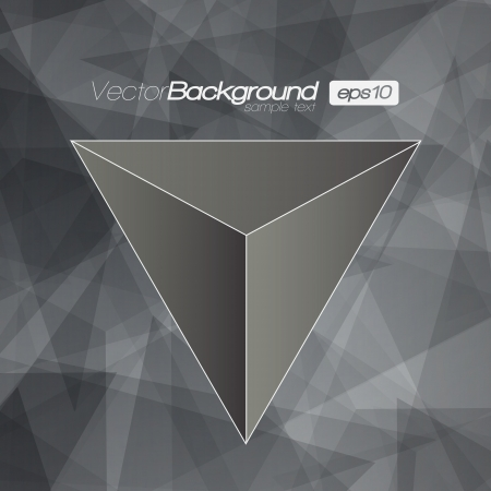 Black and White 3D Triangle background for Your Text