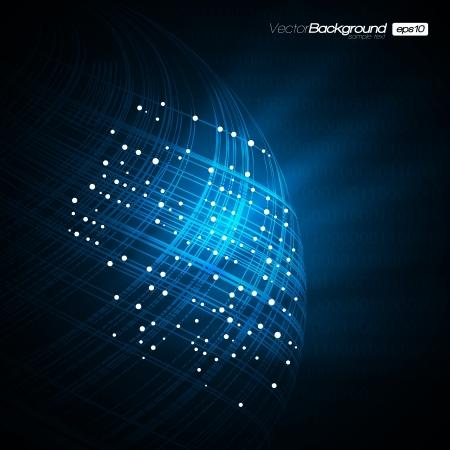 Illustration pour Blue Network Modern - image libre de droit