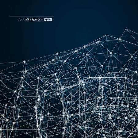 Foto de Abstract mesh background with circles, lines and shapes   Futuristic Design - Imagen libre de derechos