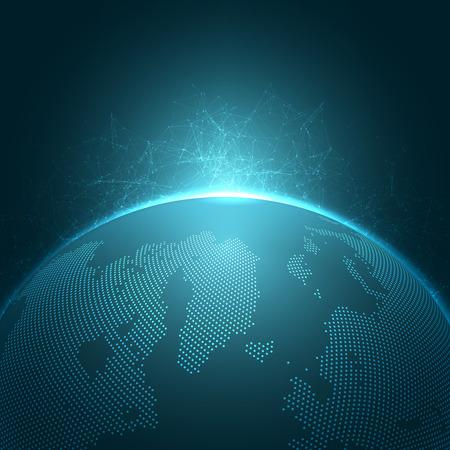 Illustration pour Modern Globe Vector Illustration | EPS10 Background - image libre de droit