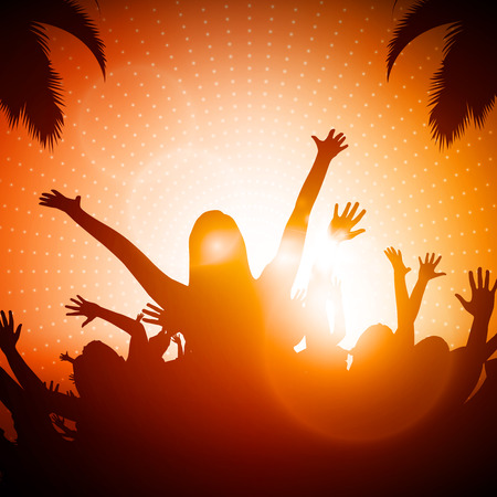 Party People | Beach Party Vector Background