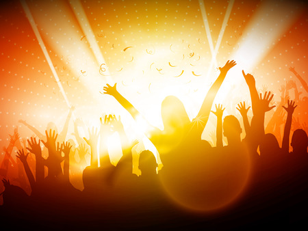 Party People in Club | Vector Background