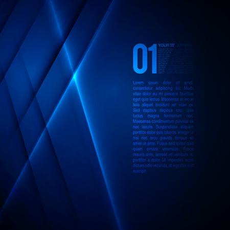 Ilustración de Abstract Blue Business Design  EPS10 Vector Background - Imagen libre de derechos