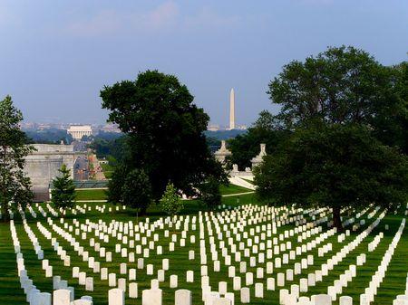 Washington DC War Memorial and Washington Monument Graveyard...