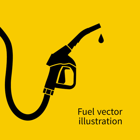Fuel pump. Petrol station sign. Gas station sign. Gasoline pump nozzle. Fuel background. Vector illustration. Gasoline pump with drop. Fuel pump icon.