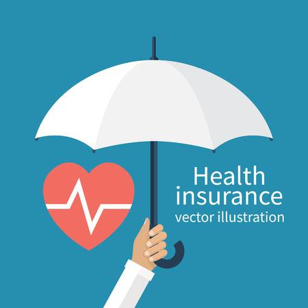 Ilustración de Health insurance concept. - Imagen libre de derechos
