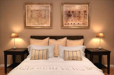 Bedroom interior in contemporary home