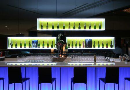 Bar in trendy club