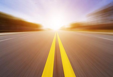 motion blur of highway