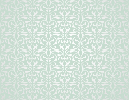 Pattern from decorative elements in a grey-green tonality