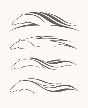 Ilustración de Horse symbol vector - Imagen libre de derechos