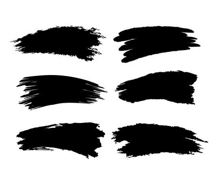 Illustration pour Brush trace on white background vector - image libre de droit