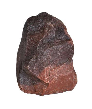 Granite fragment isolated on white background