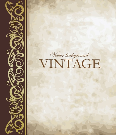 Illustration pour Vintage vector background - image libre de droit